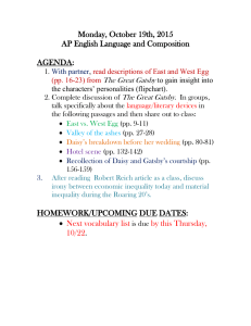 Monday, October 19th, 2015 AP English Language and Composition  AGENDA: