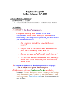 1. English 11B Agenda Friday, February 26 , 2016
