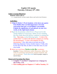 English 11B Agenda Thursday, February 25 , 2016