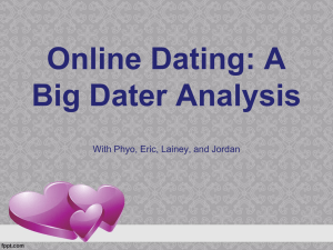 Online Dating: A Big Dater Analysis With Phyo, Eric, Lainey, and Jordan