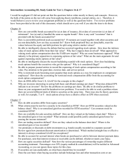 Intermediate Accounting III, Study Guide for Test 1, Chapters 16...
