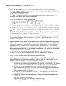 FINA 351 – Managerial Finance, Chapter 12, (Ref. 12b)