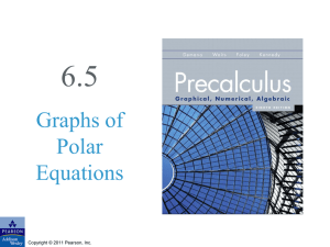 6.5 Graphs of Polar Equations