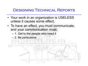 Designing Technical Reports