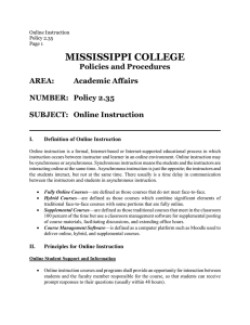 MISSISSIPPI COLLEGE Policies and Procedures AREA: Academic Affairs