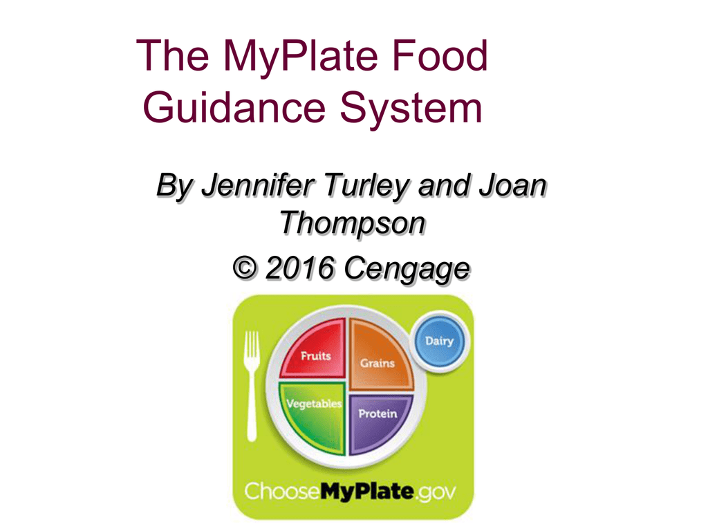 The Myplate Food Guidance System By Jennifer Turley And Joan Thompson