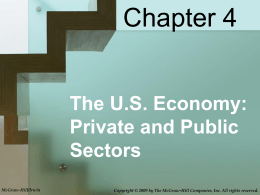 Chapter 4 The U.S. Economy: Private and Public Sectors