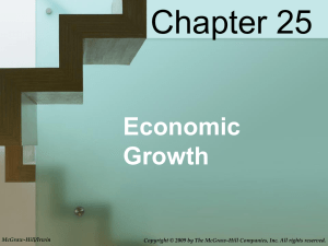 Chapter 25 Economic Growth McGraw-Hill/Irwin