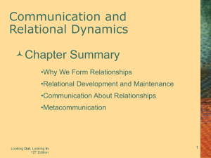 Communication and Relational Dynamics Chapter Summary