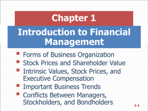  Chapter 1 Introduction to Financial Management