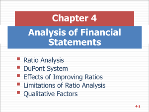  Chapter 4 Analysis of Financial Statements