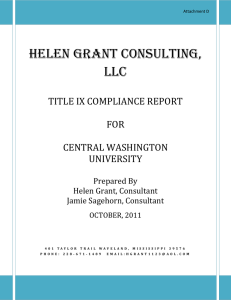 HELEN GRANT CONSULTING, LLC TITLE IX COMPLIANCE REPORT