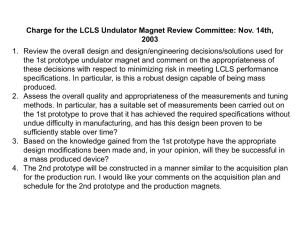 Charge for the LCLS Undulator Magnet Review Committee: Nov. 14th, 2003