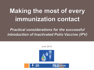 Making the most of every immunization contact Practical considerations for the successful