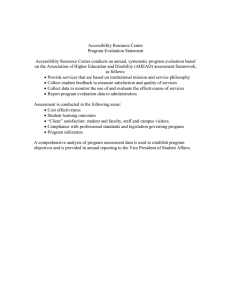 Accessibility Resource Center Program Evaluation Statement
