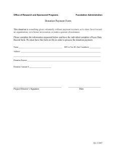 Donation Payment Form
