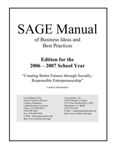 SAGE Manual of Business Ideas and Best Practices Edition for the