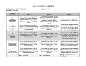 GOAL ATTAINMENT SCALE FORM Building Team Date Student (DOB)