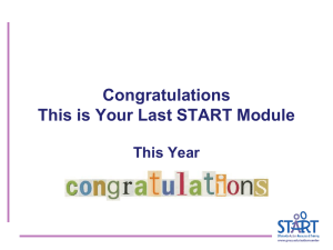Congratulations This is Your Last START Module This Year