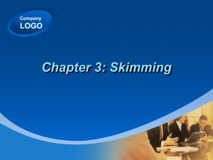 Chapter 3: Skimming LOGO Company