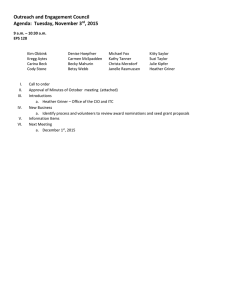 Outreach and Engagement Council Agenda:  Tuesday, November 3 , 2015