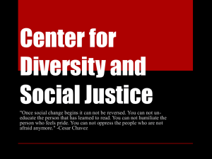 Center for Diversity and Social Justice