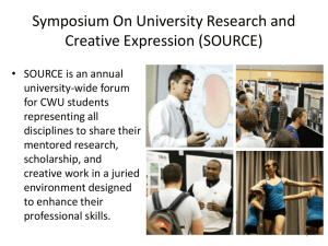 Symposium On University Research and Creative Expression (SOURCE)