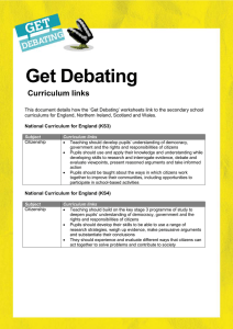 Get Debating Curriculum links