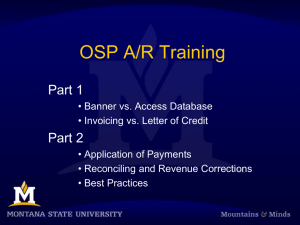 OSP A/R Training Part 1 Part 2