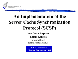 An Implementation of the Server Cache Synchronization Protocol (SCSP) Jose Costa Requena