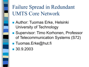 Failure Spread in Redundant UMTS Core Network