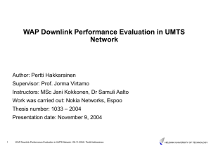 WAP Downlink Performance Evaluation in UMTS Network