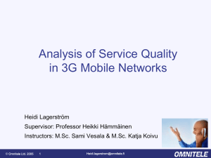 Analysis of Service Quality in 3G Mobile Networks