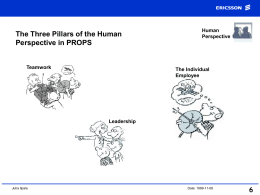 The Three Pillars of the Human Perspective in PROPS 6 Human