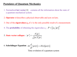 Postulates of Quantum Mechanics  a P