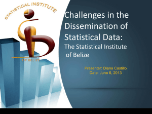 Challenges in the Dissemination of Statistical Data: The Statistical Institute