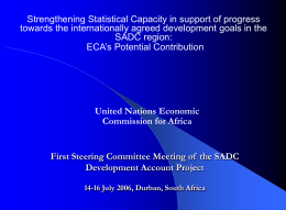 Strengthening Statistical Capacity in support of progress