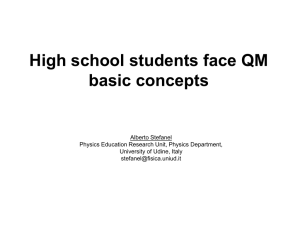 High school students face QM basic concepts