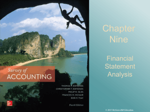 Chapter Nine Financial Statement