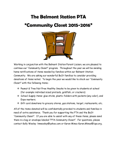 "The Belmont Station PTA ""Community Closet 2015-2016"""
