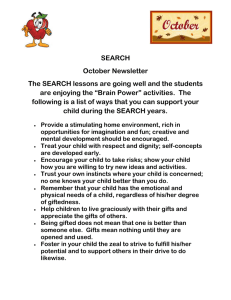 SEARCH October Newsletter The SEARCH lessons are going well and the students