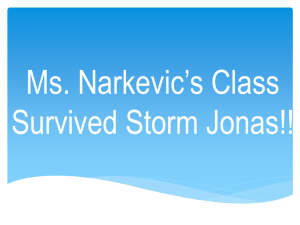 Ms. Narkevic's Class Survived Storm Jonas!!