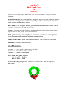 Mrs. Hess's Third Grade News for December