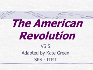 The American Revolution VS 5 Adapted by Kate Green