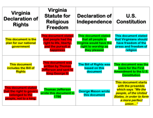 Virginia Statute for Declaration of U.S.