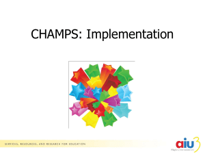 CHAMPS: Implementation