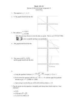 Math 101.01 y x   