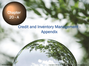 Credit and Inventory Management - Appendix Chapter 20 - A
