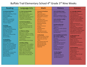 Buffalo Trail Elementary School 4 Grade 3 Nine Weeks Reading