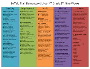 Buffalo Trail Elementary School 4 Grade 2 Nine Weeks Reading